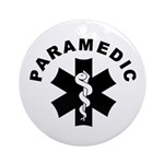 Paramedic Star of Life Ornament (Round)