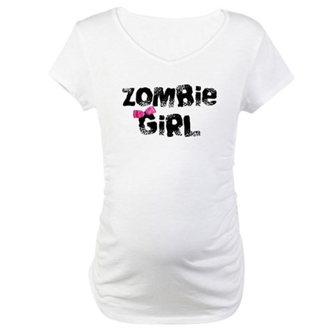 Zombie Girl  Funny Maternity T-Shirt by CafePress