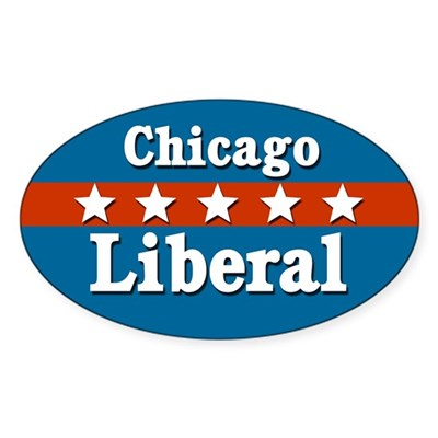 Patriotic Chicago Liberal Sticker