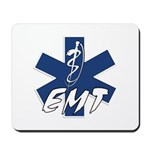 "EMT Active Mouse pad featuring our star of life and says ""EMT""."