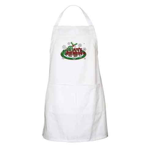 Christmas Pudding BBQ Christmas Apron by CafePress