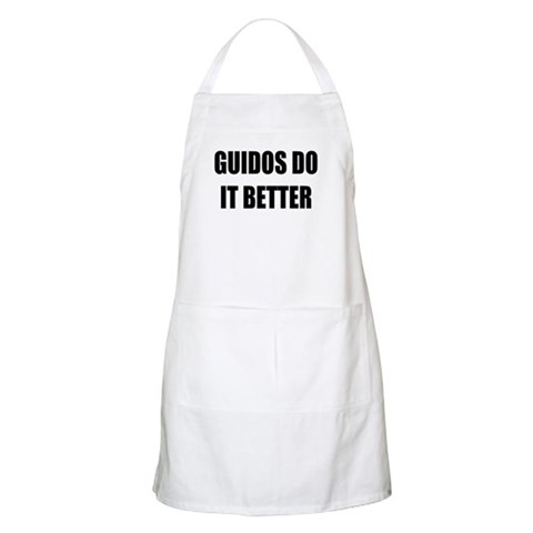 Guidos Do It Better BBQ Yellow Apron by CafePress