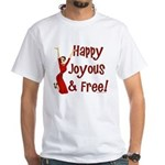 Happy Joyous & Free Al-Anon White T-Shirt