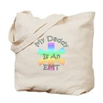 EMT Tote Bags for EMT babies! My daddy is an EMT tote bag is available with matching EMT baby gifts, EMT t-shirts and EMT bibs and teddy bears! Click here to see the whole collection.......