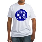 Think Blue 2008 (Fitted T-Shirt Made in USA)