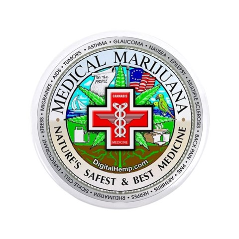 Medical Marijuana Logo  Marijuana 3.5 Button 100 pack by CafePress