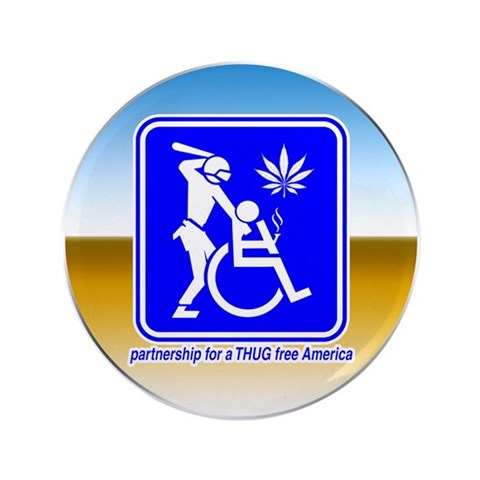 Thug Free America  Humor 3.5 Button 100 pack by CafePress