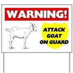 Warning Attack Goat On Guard Yard Sign