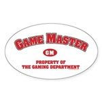 GMs will love this one. Game Master: Property of the Gaming Department.