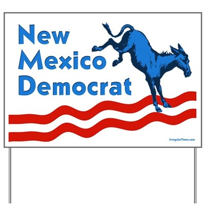 Put this New Mexico Democrat yard sign out on your lawn or in your xeriscaped property to let neighbors know that you'll vote blue in the coming election.