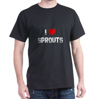 I Love Sprouts Black T-Shirt