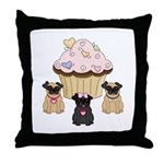Pug Dogs and Cupcake Pillows