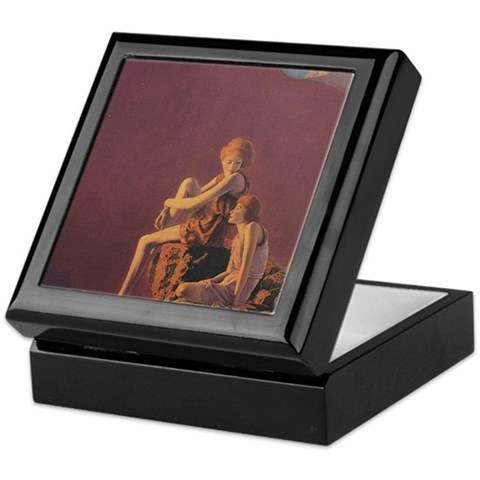 - Contentment, Purple Keepsake Box by CafePress