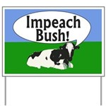 Impeach Bush Moo Cow Yard Sign