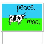 Peace Moo Cow Yard Sign