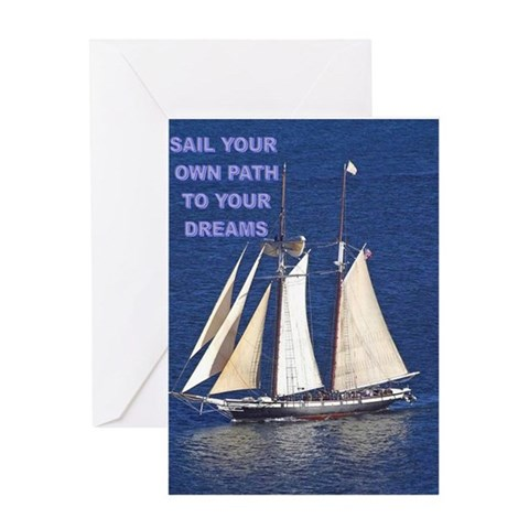 - SAIL YOUR OWN PATH Colorful Greeting Card by CafePress