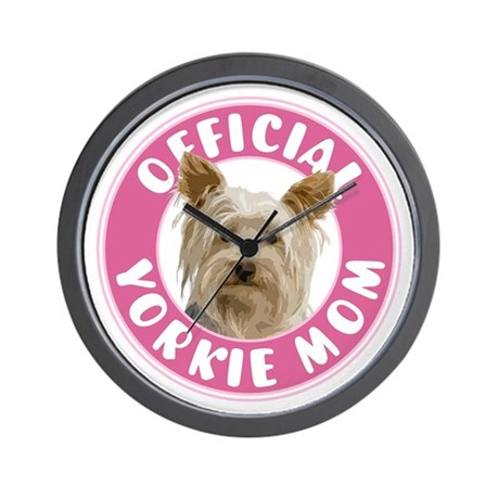 Official Yorkie Mom - Wall Clock
