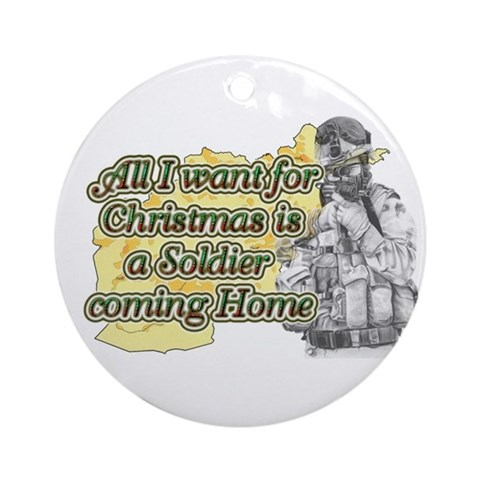 --- OEF/Afghanistan Afghanistan Round Ornament by CafePress
