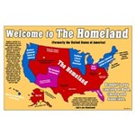 Welcome to the Homeland Large Poster map