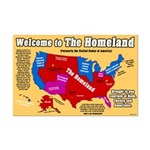 Homeland Map 11 x 17 Poster Print
