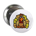 "Turkey Feathers 2.25"" Button (10 pack)"
