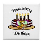 Thanksgiving Birthday Tile Coaster