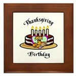 Thanksgiving Birthday Framed Tile