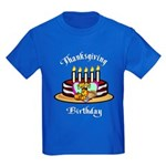 Thanksgiving Birthday Kids Dark T-Shirt