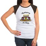Thanksgiving Birthday Women's Cap Sleeve T-Shirt