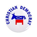 Christian Democrat 3.5&quot; Button