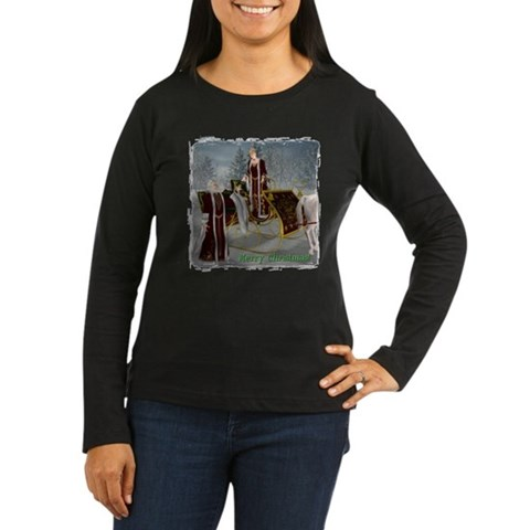 Mr 'N Mrs Claus Christmas Women's Long Sleeve Dark T-Shirt by CafePress