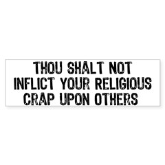 Tired of having religious crap flung at you from the bible-thumping kool aid drinkers? Back them off with these words: