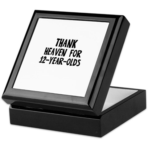 Thank Heaven For 12-Year-Olds Humor Keepsake Box by CafePress