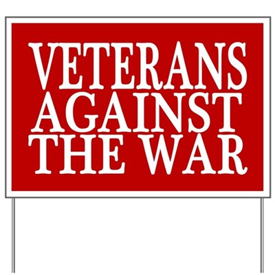 Veterans Against The War Lawn Sign (red)