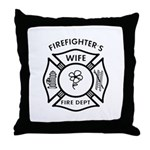 Pillows for a firefighters wife and home decor like mousepads, gift clocks, coffee mugs and check out our firefighter wives tote bags and t-shirts, all with our exclusive fire department themes!