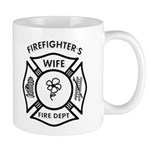 Personalized firefighter's wife gift mug is our custom firefighter family designs available on t-shirts, personalized tote bags and gifts for every fireman's wife! Check out our firefighter wife collection here.......