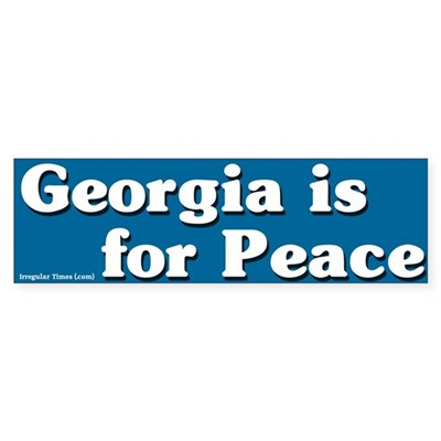 Georgia is for Peace Bumper Sticker