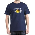 New firefighter t-shirts personalized with fire, flames and firefighting logos!