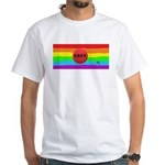 EASY BUTTON GAY RAINBOW ART T-Shirt