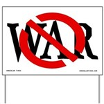 Slash Through War Yard Sign