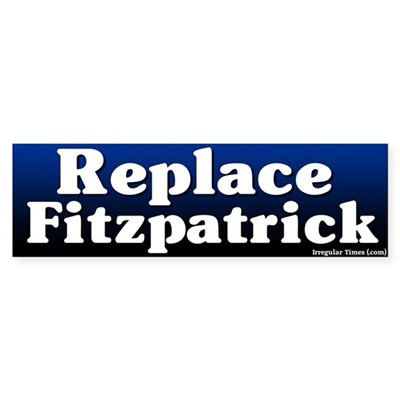 Replace Mike Fitzpatrick Bumper Sticker