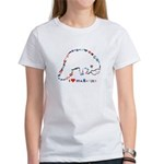 Manatee Typography Women's T-Shirt