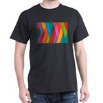 Abstract Colorful Decorative 3D Striped Pa T-Shirt