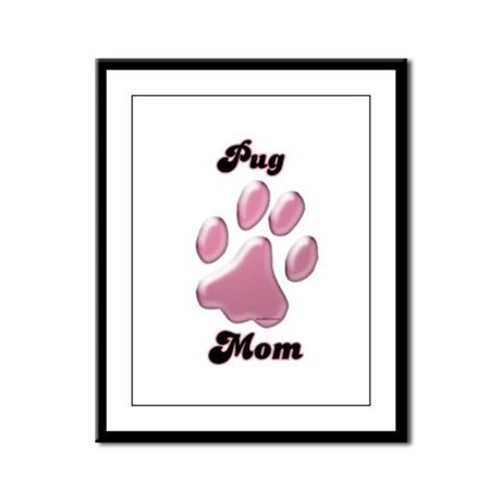 Pug Mom3 Framed Panel Print