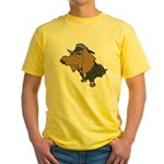 Male Dachshund Yellow T-Shirt