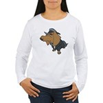 Male Dachshund Women's Long Sleeve T-Shirt