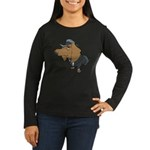 Male Dachshund Women's Long Sleeve Dark T-Shirt