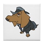 Male Dachshund Tile Coaster