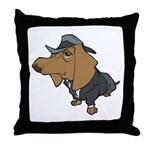 Male Dachshund Throw Pillow