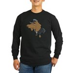 Male Dachshund Long Sleeve Dark T-Shirt
